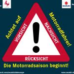 Achtung Motorradfahrer