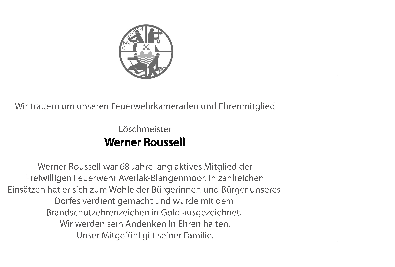 Nachruf Werner